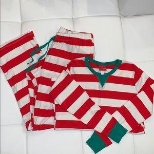 Holiday Striped Pajama Set